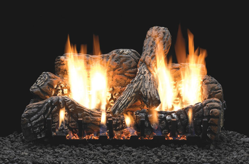 White Mountain Hearth Ceramic Fiber Charred Oak Log Set