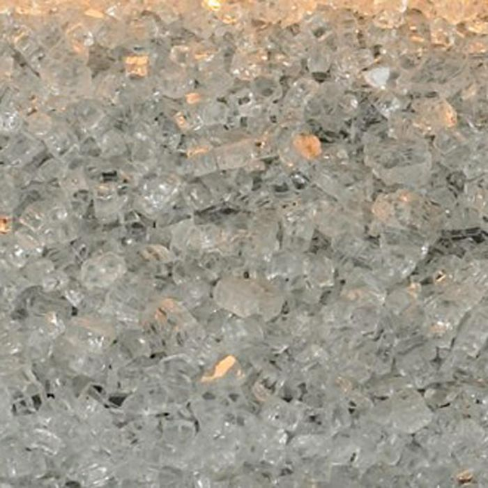 Clear Frost Decorative Crushed Glass, 1 sq. foot