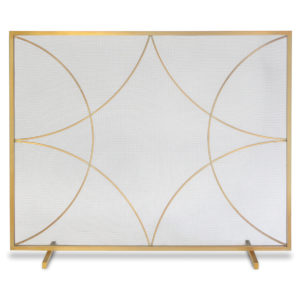 Pilgrim Forged Diamond Flat Single Panel Fireplace Screen