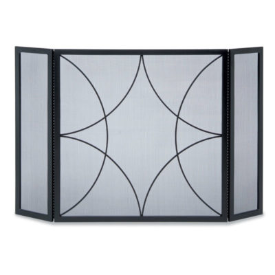 PIlgrim Forged Diamond Tri Panel Fireplace Screen