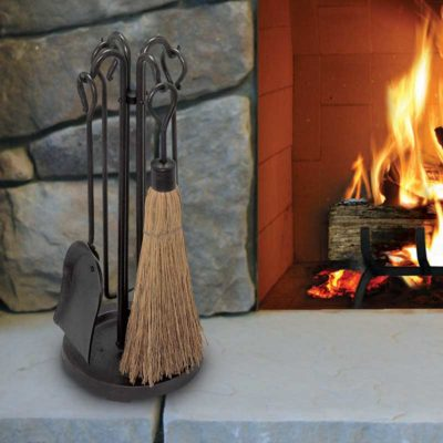 18000 Pilgrim Raised Hearth Fireplace Tool Set