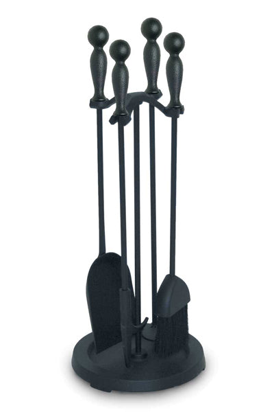 18021 Pilgrim 2300 Series Iron Ball Fireplace Tool Set