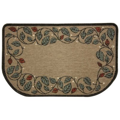 19628 Pilgrim Berry Vine Natural Hearth Rug