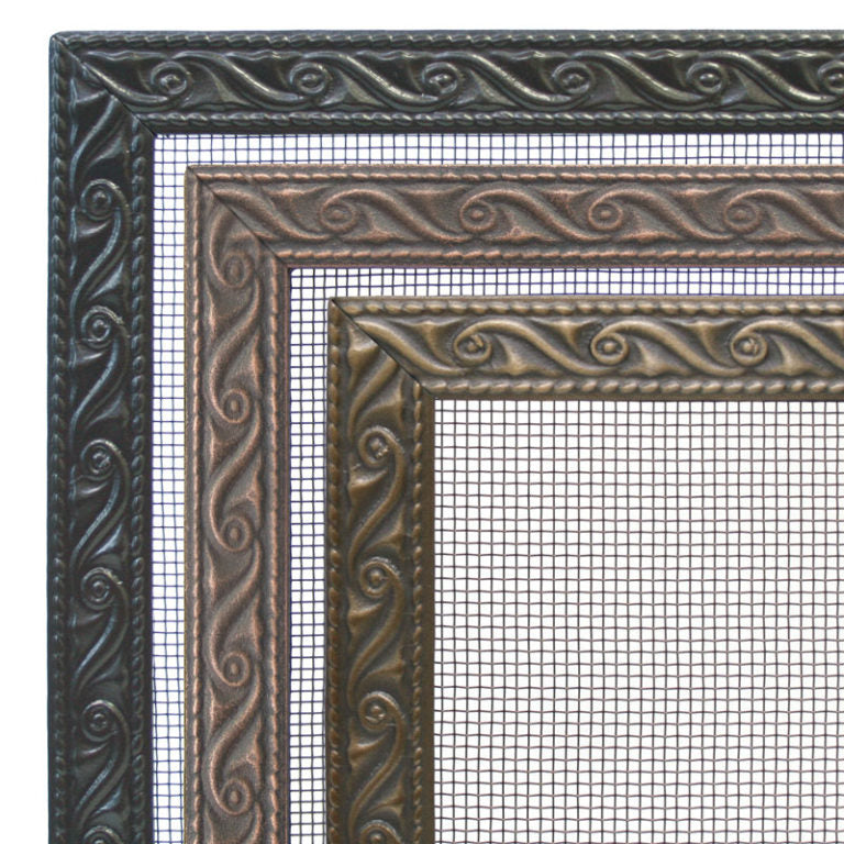Pilgrim Ballard Embossed Tri Panel Fireplace Screen