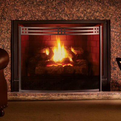 Pilgrim Bowed Portfolio Fireplace Screen
