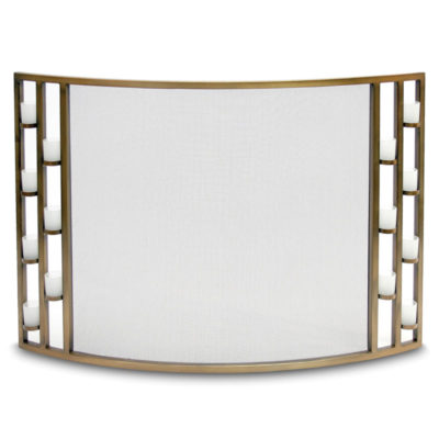 Pilgrim Candlewood Tea Light Bowed Fireplace Screen