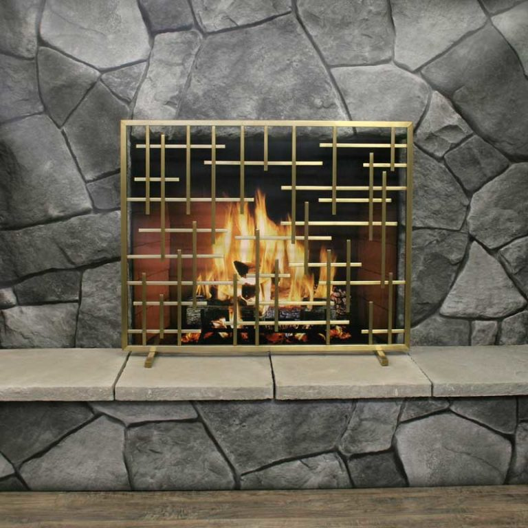 Pilgrim Contemporary Fireplace Summer Screen Without Mesh