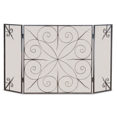 Pilgrim Elements 3 Panel Folding Fireplace Screen
