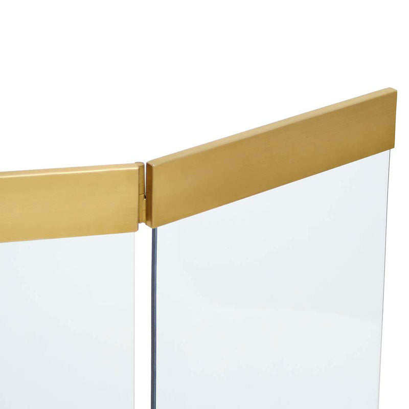 Pilgrim Modern Glass Tri Panel Brass or Stainless Steel