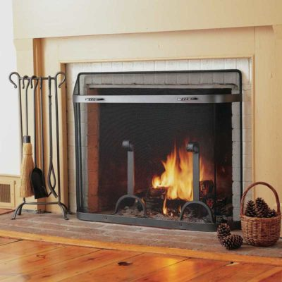 Pilgrim SGG Spark Guard Fireplace Screen ( Custom sizes available )