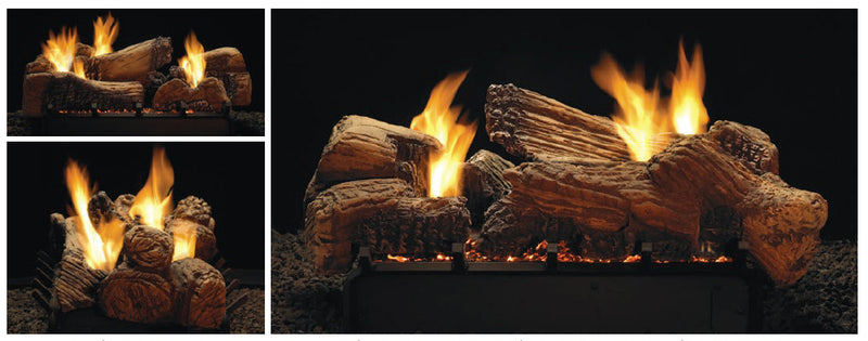 White Mountain Hearth Ceramic Fiber Stone River Multi-Sided Log Set