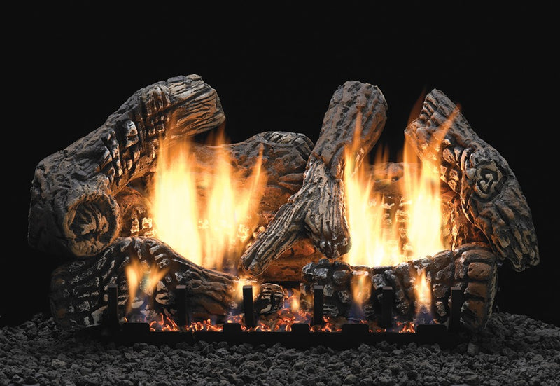 White Mountain Hearth Ceramic Fiber Super Charred Oak Log Set
