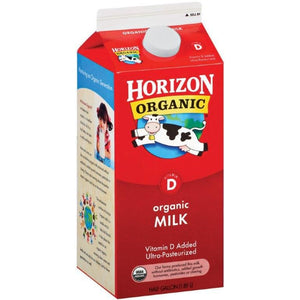 Organic Whole Milk Half Gallon