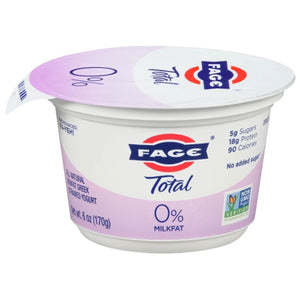 Fage Total 0% with Plain 5.3 oz Cups (12 / Case)