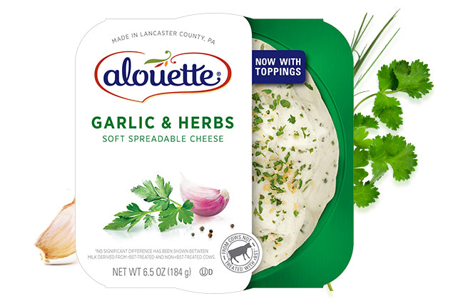 Alouette Garlic & Herb Soft Spreadable Cheese 6.5oz