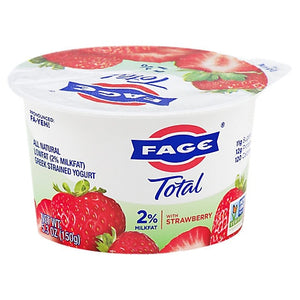 Fage Total 2% with Strawberry 5.3 oz Cups	(12 / Case)