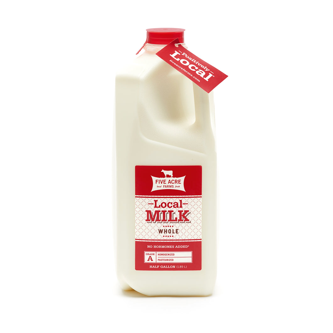 Five Acre Farms Local Whole Milk Half Gallon