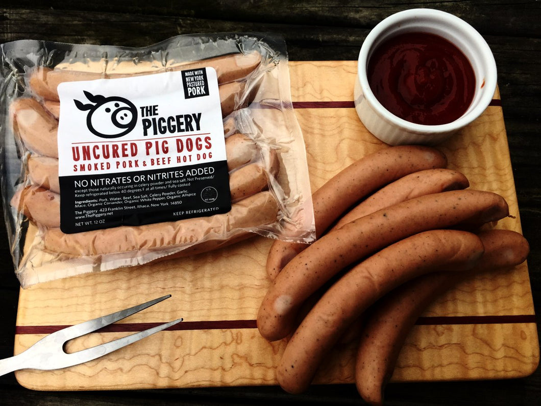 Uncured Pork & Beef Hot Dogs - 12oz (6 per pack)