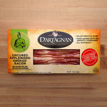 Load image into Gallery viewer, D'Artagnan Uncured Applewood Smoked Bacon - 12oz