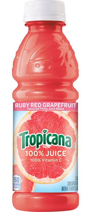 Tropicana Ruby Red Grapefruit Juice Plastic Quart