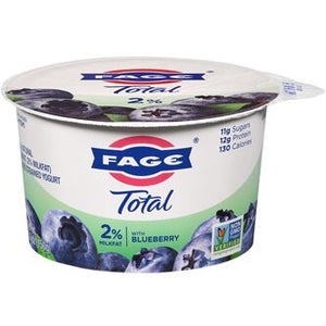 Fage Total 2% with Blueberry 5.3 oz Cups	(12 / Case)