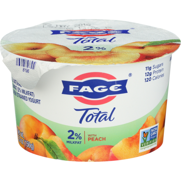 Fage Total 2% with Peach 5.3 oz Cups	(12 / Case)