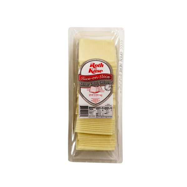 Sharp White Cheddar Sliced Cheese 2.5 lb