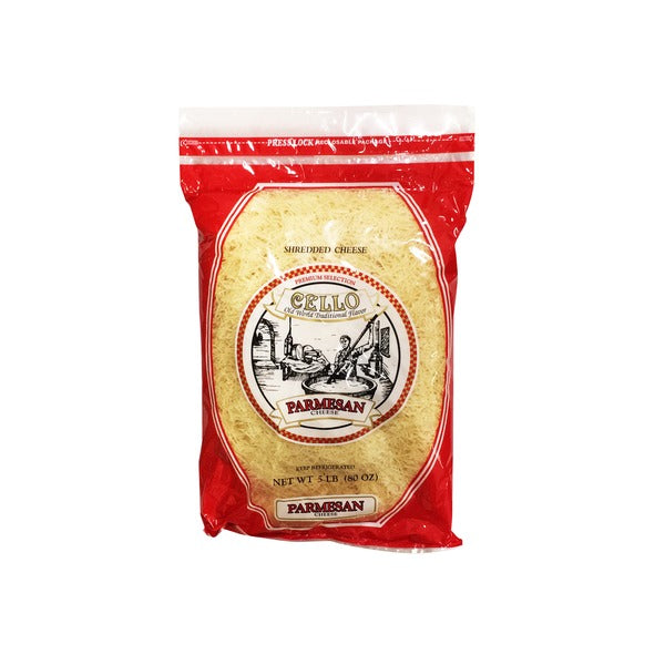 Cello Shredded Parmesan 5 lb Bag