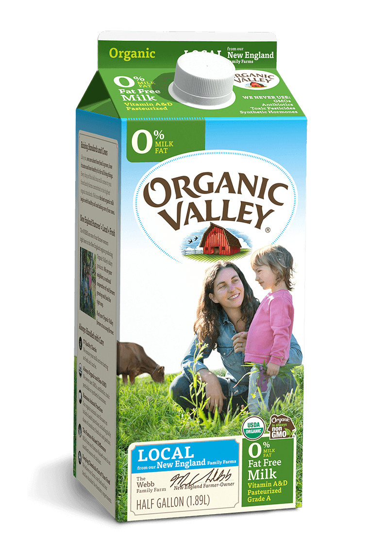 Organic Skim Milk Half Gallon