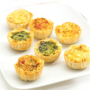 Assorted Quiche in Fillo Cups