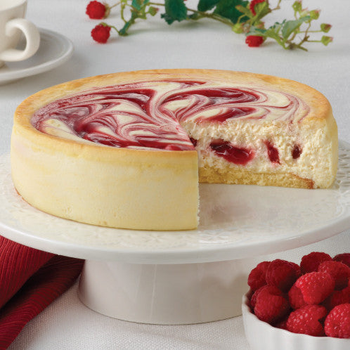 Junior's Raspberry Swirl Cheesecake 6