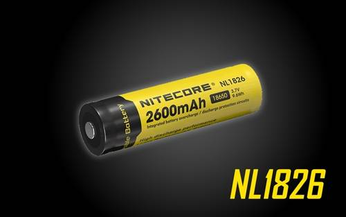 Nitecore NL 1826 2600mAH 3.7v Rechargeable 18650 Battery