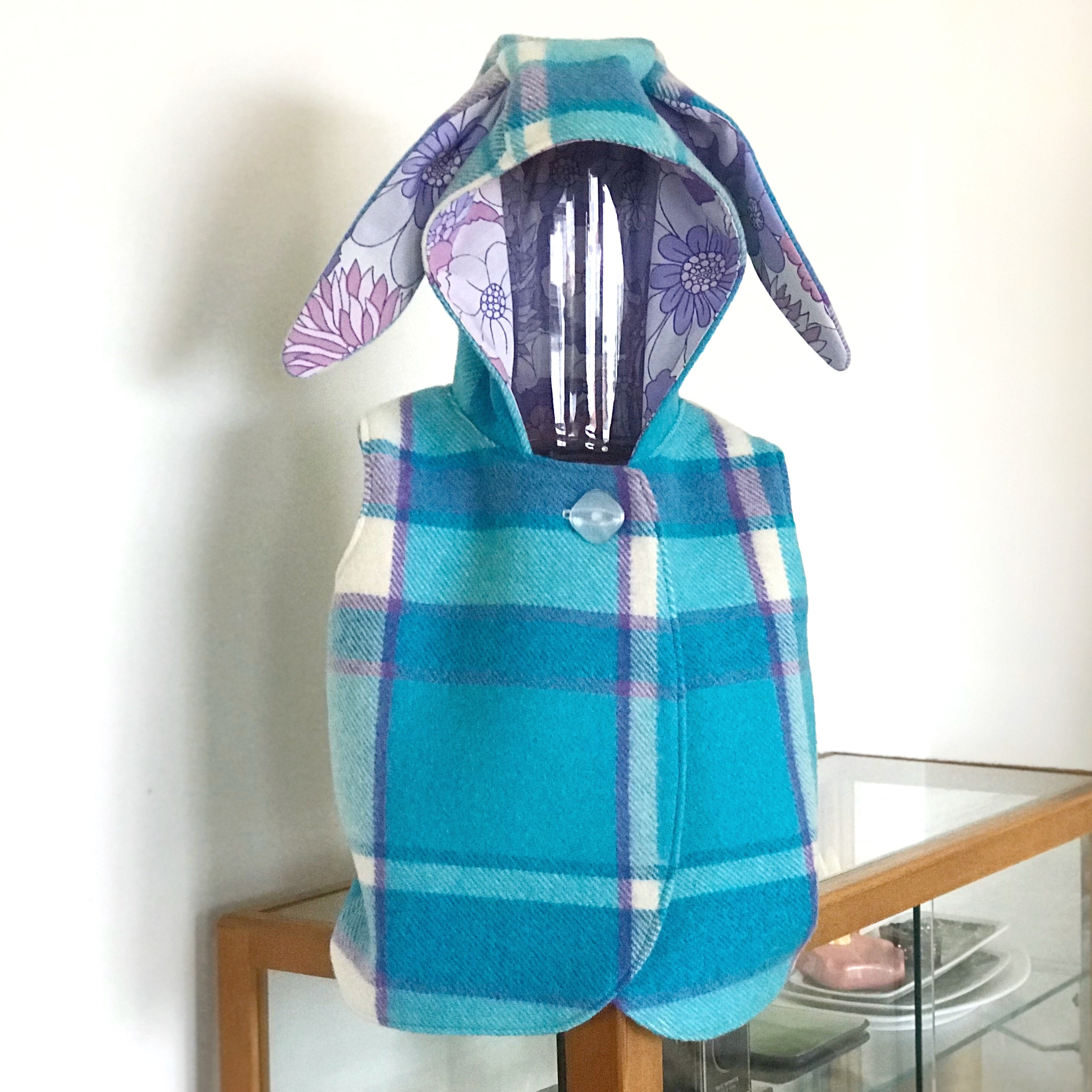 Size 3 Blanket Vest with Rabbit Ears (long cut)