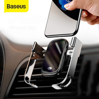 Baseus 15W Wireless Car Charger Qi Wireless Charger in Car Air Vent Mount Holder Infrared Sensor Wireless Charging Phone Holder