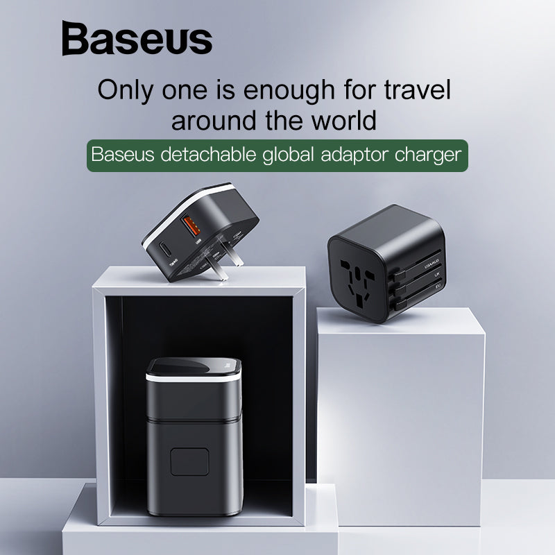 Baseus 18W Travel USB Charger EU Plug Quick Charge 3.0 Fast Charger QC 3.0 USB Type C PD Charger For Phone