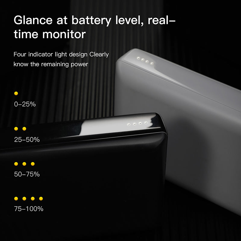 Baseus 20000mAh Power Bank External Battery USB Type C PD Fast Charging Powerbank Portable Charger For Phone