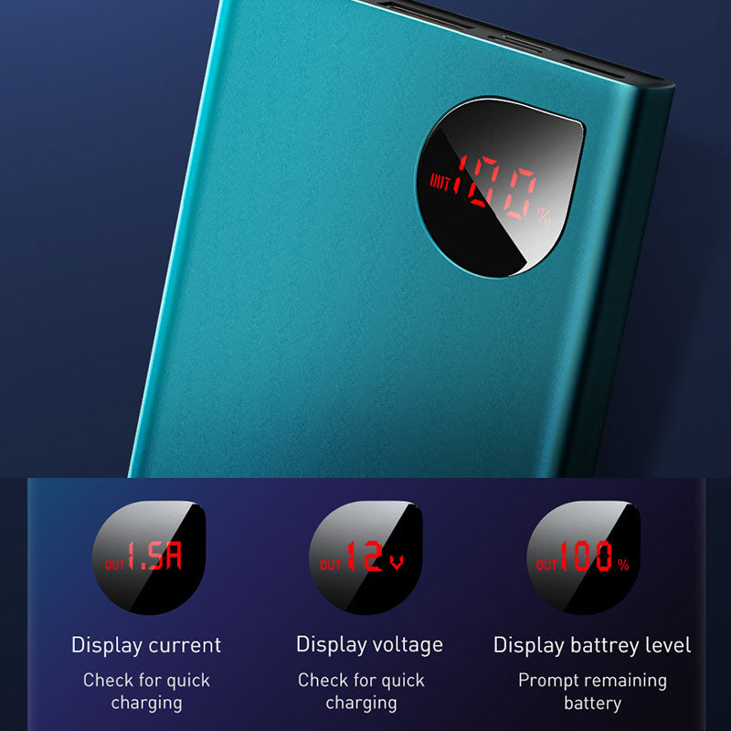 Baseus 22.5W Power Bank 10000mAh 5A SCP USB C PD Fast Charging Powerbank Portable Charger External Battery ForHuawei ForXiaomi