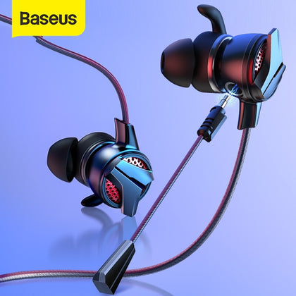 Baseus 3.5mm In-ear Gaming Earphone For Pubg Controller GAMO-15 3D Stereo earphones For Mobile pubg Gamer with Detachable HD Mic