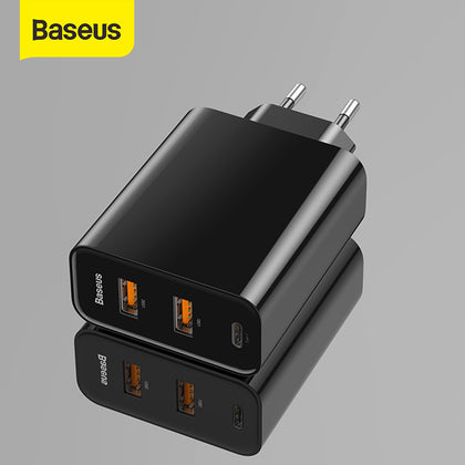 Baseus 3 Ports USB Fast Charger 60W Support Quick Charge 4.0 3.0 Type-C PD Charger QC 4.0 3.0 Phone Charger For HUAWEI Xiaomi
