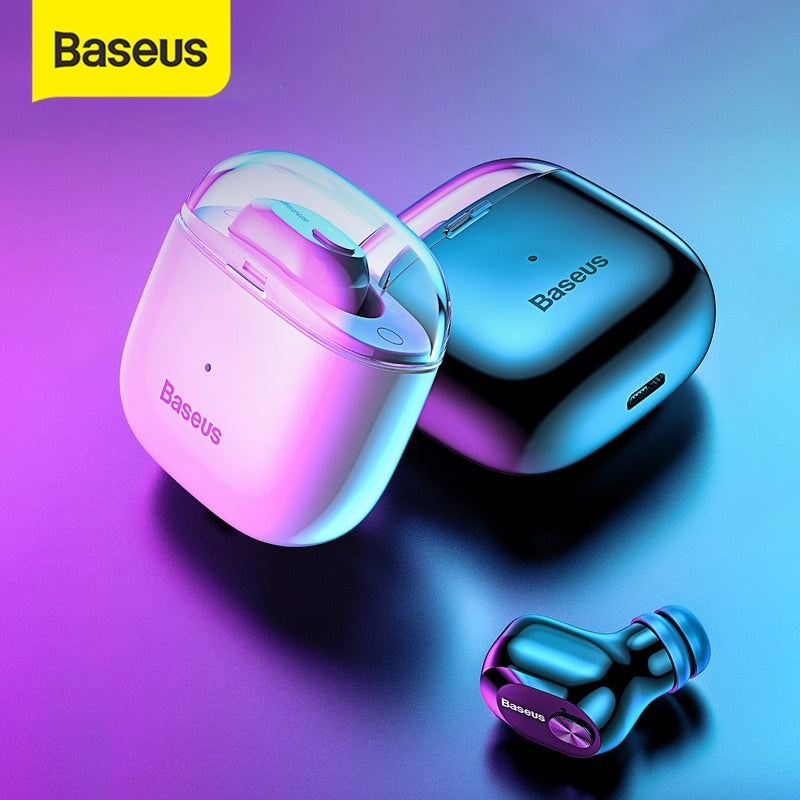 Baseus A03 Business Bluetooth Earphone Mini Portable Single TWS Wireless Earphone With Mic For xiaomi iPhone Car Driving
