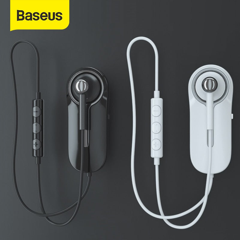 Baseus A06 Bluetooth Earphone Portable Business Wireless Headset Handsfree with Clip for Driving Car Work for iPhone