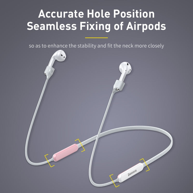 Baseus Anti-lost Neck Strap Wireless Earphone String Rope for Airpods 1/2 Magnetic attraction luminous Anti-loss Lanyard
