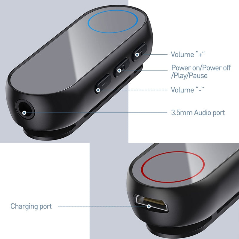 Baseus Bluetooth transmitter Wireless Bluetooth Receiver for Earphone Headphone Speakr 3.5 Aux Bluetooth Audio adapter receiver