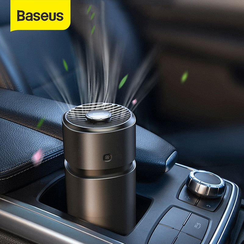 Baseus Car Air Freshener Diffuser Auto Perfume with Fan Aromatherapy Formaldehyde Air Cleaner Flavoring For Car Air Purifier