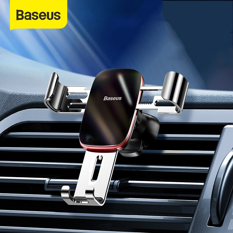 Baseus Car Phone Holder 360 Degree Rotation Car Air Vent Mount Universal Gravity Mobile Phone Holder For iPhone Car Holder