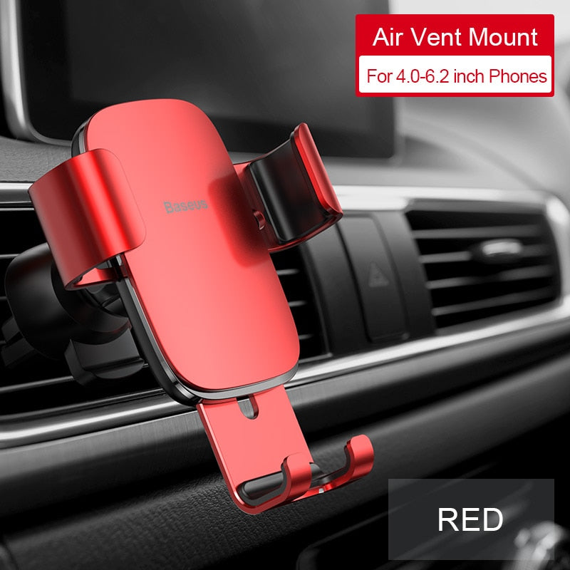 Baseus Car Phone Holder for Car CD Slot Air Vent Mount Phone Holder Stand for iPhone Samsung Metal Gravity Mobile Phone Holder