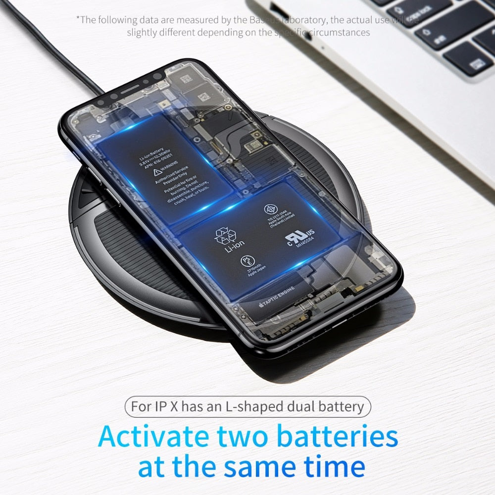 Baseus Collapsible Qi Wireless Charger for iPhone 11 Pro Max X XR XS Multifunction Fast Wireless Charging for Samsung S9/S9+/S8