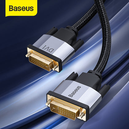 Baseus DVI Cable 2K DVI-D Cable Male DVI to Male DVI Cord for HDTV Projector Multimedia 24+1 DVI D Vedio Dual Link Cable Line