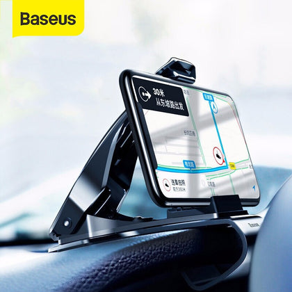 Baseus Dashboard Car Phone Holder for iPhone X Adjustable Clip Mount Holder for Samsung Phone Grip Mobile Phone Holder Stand