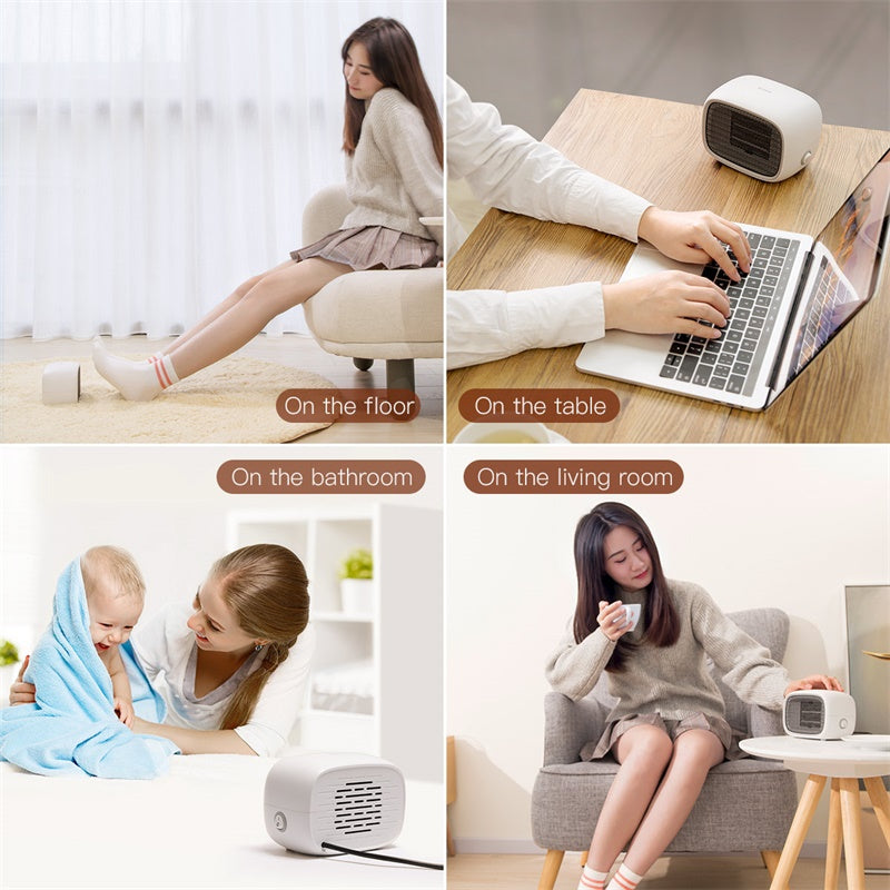 Baseus Electric Heater warmer Plug Portable Home Heater Handy Warmer for Home Office Household Fan Heater Stove Radiator